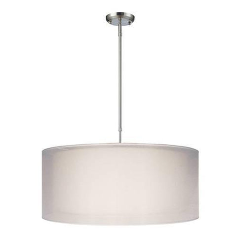 Z-Lite Nikko Collection Brushed Nickel/White Finish Three Light Pendant - ZLiteStore