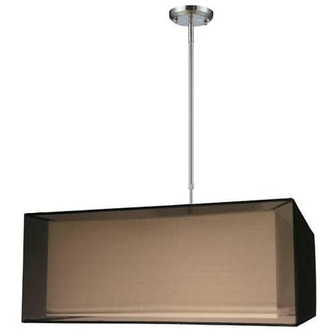 Z-Lite Nikko Collection Brushed Nickel/Black Finish Four Light Pendant - ZLiteStore