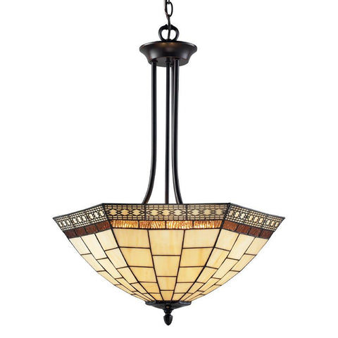 Z Lite Prairie Garden Collection Chestnut Bronze Finish Three Light Pendant - ZLiteStore