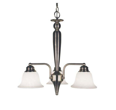 Z-Lite Huntingdale Collection Brushed Nickel Finish Three Lights Chandelier - ZLiteStore