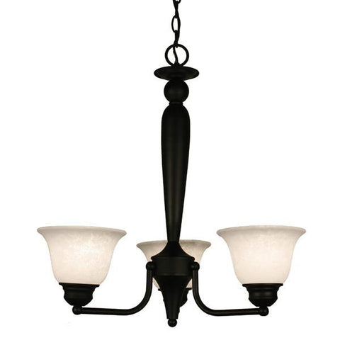 Z-Lite Huntingdale Collection Matte Black Finish Three Lights Chandelier - ZLiteStore