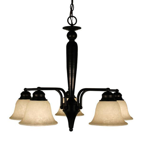 Z-Lite Huntingdale Collection Bronze Finish Five Lights Chandelier - ZLiteStore