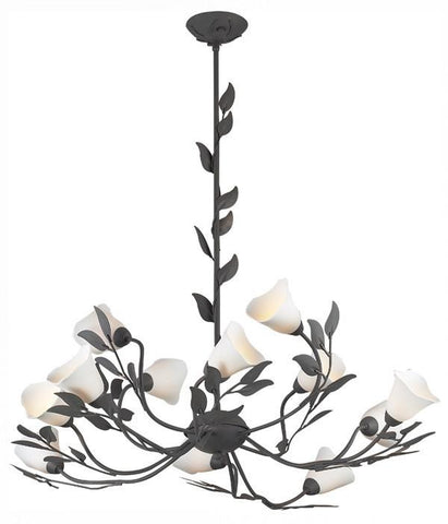 Z-Lite Lilybrook Collection Slate Grey Finish Twelve Lights Chandelier - ZLiteStore