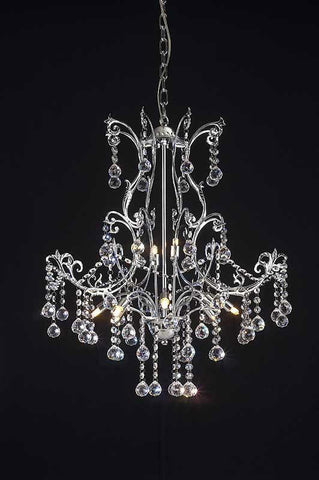 Z-Lite Parisian Crystal Chand. Collection Chrome Finish 8 Light Crystal Chandelier - ZLiteStore
