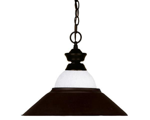 Z-Lite Pendant Lights Collection Bronze Finish One Light Pendant - ZLiteStore