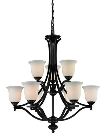 Z-Lite 702-9-brz Lagoon Collection 9 Light Chandelier - ZLiteStore
