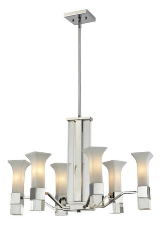 Z-Lite 611-6-ch Lotus Collection 6 Light Chandelier - ZLiteStore