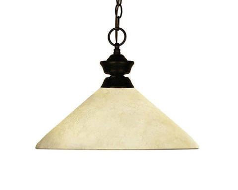 Z-Lite 100701brz-agm14 Chance/Bourbon Collection 1 Light Pendant - ZLiteStore