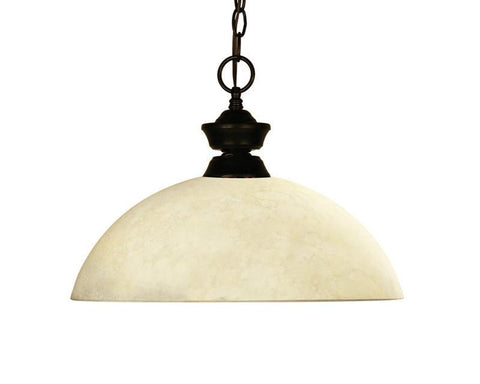 Z-Lite 100701brz-dgm14 Challenger/Riviera Bronze Collection 1 Light Pendant - ZLiteStore