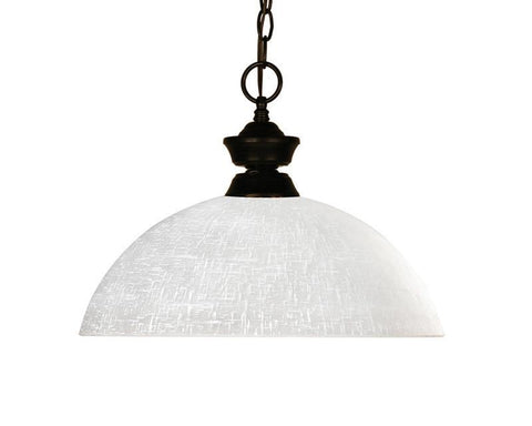 Z-Lite 100701brz-dwl14 Riviera Bronze/Bourbon Collection 1 Light Pendant - ZLiteStore