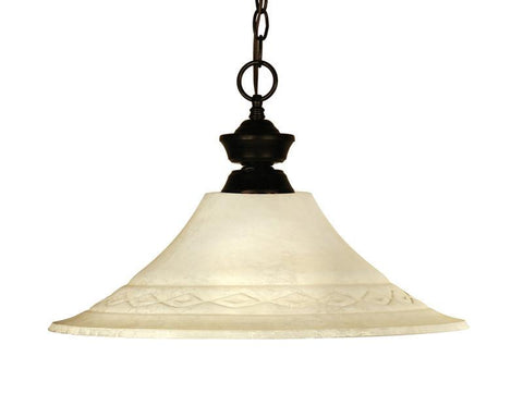 Z-Lite 100701brz-fgm16 Chicago/Phoenix Collection 1 Light Pendant - ZLiteStore