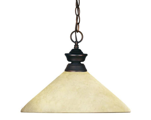 Z-Lite 100701ob-agm14 Riviera Olde Bronze Collection 1 Light Pendant - ZLiteStore