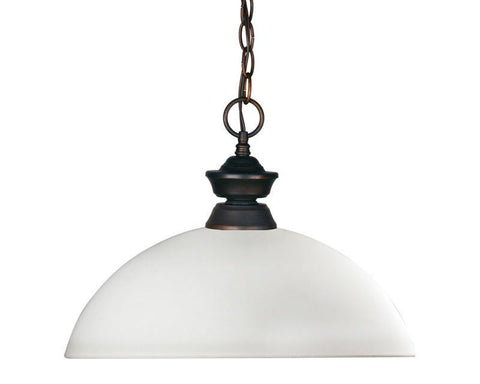 Z-Lite 100701ob-dmo14 Riviera Olde Bronze Collection 1 Light Pendant - ZLiteStore