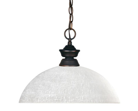 Z-Lite 100701ob-dwl14 Riviera Olde Bronze Collection 1 Light Pendant - ZLiteStore