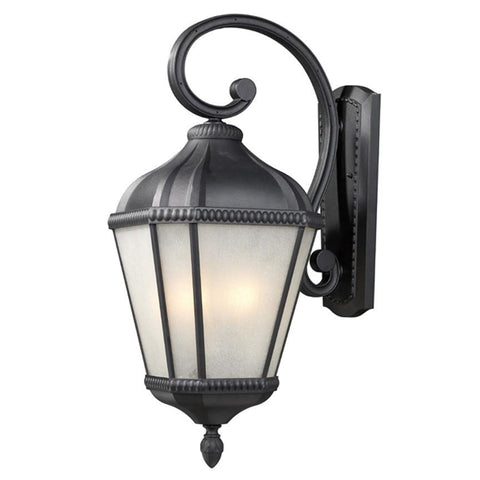 Z Lite Waverly Collection Black Finish Outdoor Wall Light - ZLiteStore