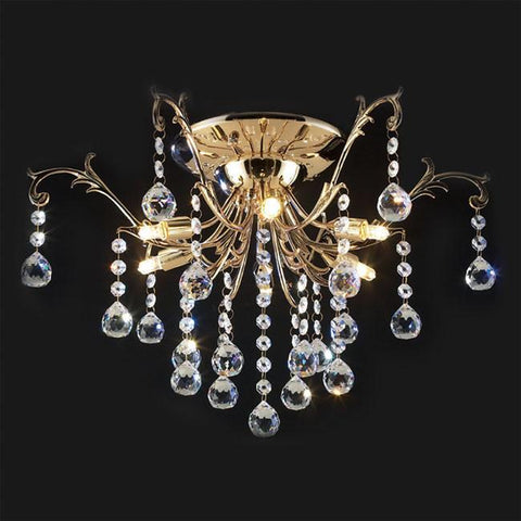 Z-Lite Parisian Crystal Chand. Collection French Gold Finish 6 Light Crystal Chandelier - ZLiteStore