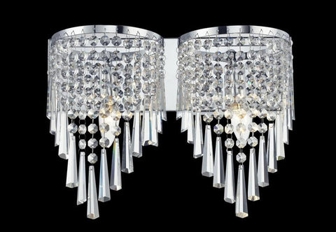 Z-Lite 868ch-2v Tango Collection 2 Light Crystal Vanity Light - ZLiteStore