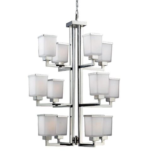 Z Lite Affinia Collection Chrome Finish Twelve Light Chandelier - ZLiteStore