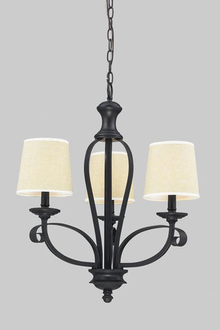 Z-Lite 2001-3 Charleston Collection Crème/Matte Back Finish 3 Light Chandelier - ZLiteStore