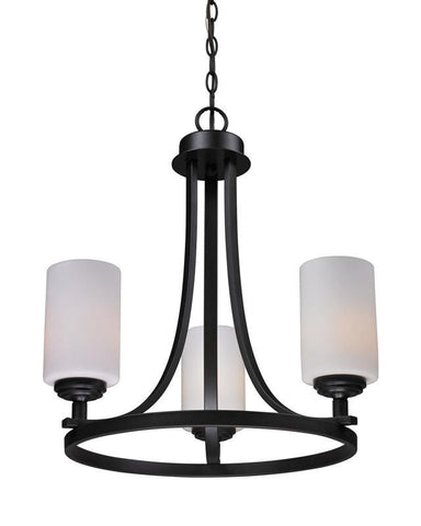 Z-Lite 2006-3 Chambley Collection Oil Rubbed Bronze Finish 3 Light Chandelier - ZLiteStore