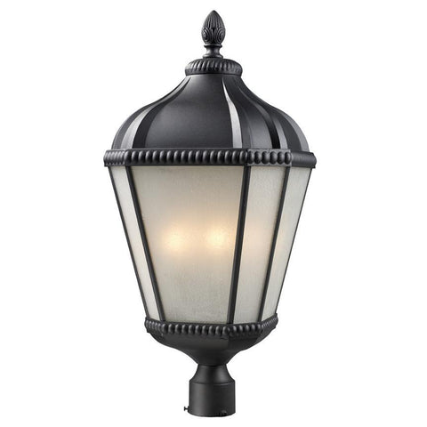 Z Lite Waverly Collection Black Finish Outdoor Post Light - ZLiteStore