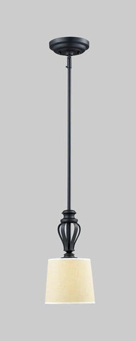 Z-Lite 2001MP Charleston Collection Crème/Matte Back Finish 1 Light Mini Pendant - ZLiteStore