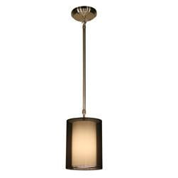 Z-Lite Nikko Collection Brushed Nickel/Black Finish One Light Mini Pendant - ZLiteStore