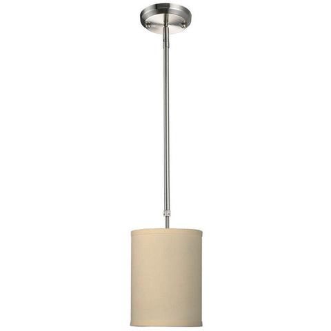 Z-Lite Albion Collection Off White/Brushed Nickel Finish One Light Mini Pendant - ZLiteStore