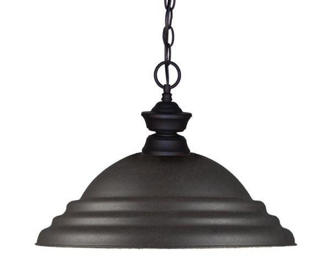 Z-Lite Pendant Lights Collection Sand Black Finish One Light Pendant - ZLiteStore