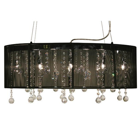 Z-Lite Parisian Crystal Chand. Collection Chrome/Black Finish Eight Lights Crystal Chandelie - ZLiteStore