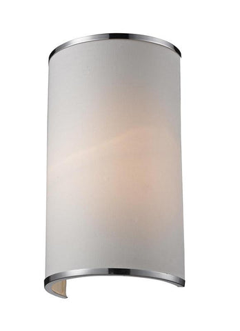 Z-Lite 164-1S Cameo Collection White/Chrome Finish 1 Light Wall Sconce - ZLiteStore