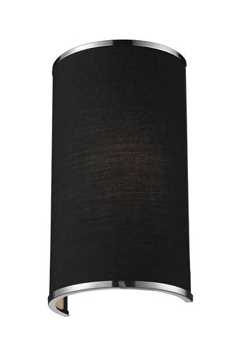 Z-Lite 168-1S Cameo Collection Black/Chrome Finish 1 Light Wall Sconce - ZLiteStore