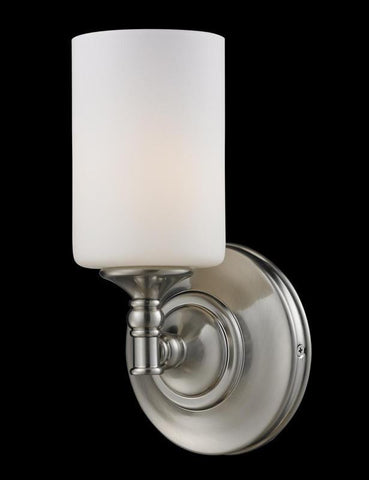 Z-Lite 2102-1S Cannondale Collection Brushed Nickel/Matte Opal Finish 1 Light Wall Sconce - ZLiteStore
