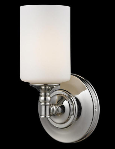Z-Lite 2103-1S Cannondale Collection Chrome/Matte Opal Finish 1 Light Wall Sconce - ZLiteStore