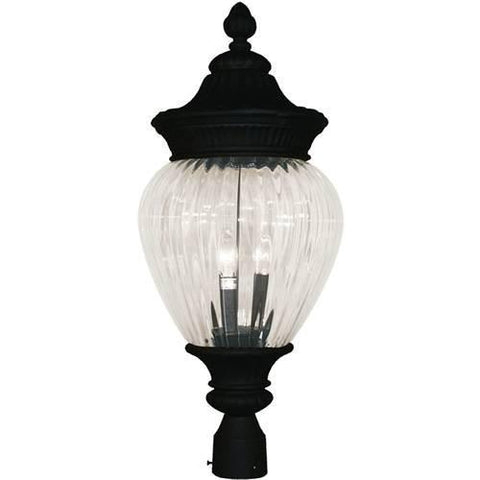 Z-Lite Devonshire Collection Black Finish Outdoor Post Light - ZLiteStore
