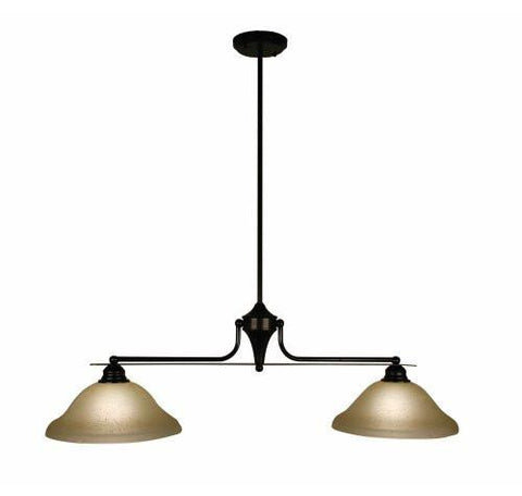 Z-Lite Huntingdale Collection Bronze Finish Two Lights Island/Billiard - ZLiteStore