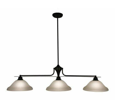 Z-Lite Huntingdale Collection Matte Black Finish Three Lights Island/Billiard - ZLiteStore
