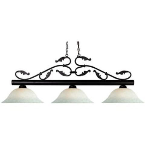 Z-Lite Bourbon Collection Bronze Finish Three Light Billiard - ZLiteStore