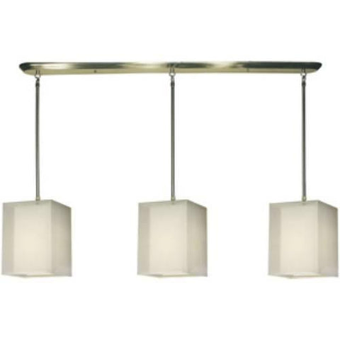Z-Lite Nikko Collection Brushed Nickel/White Finish Nine Light Island/Billiard - ZLiteStore