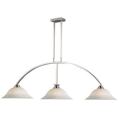 Z-Lite Martini Collection Brushed Nickel Finish Three Lights Billiard - ZLiteStore
