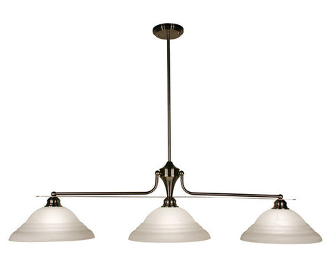 Z-Lite Huntingdale Collection Brushed Nickel Finish Three Lights Island/Billiard - ZLiteStore