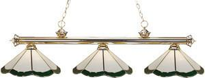 Z-Lite Custom Tiffany Collection Polished Brass Finish Three Lights Billiard - ZLiteStore
