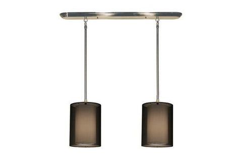 Z-Lite Nikko Collection Brushed Nickel/Black Finish Two Lights Island/Billiard - ZLiteStore