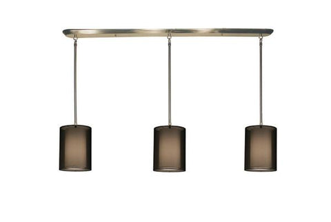 Z-Lite Nikko Collection Brushed Nickel/Black Finish 9 Lights Island/Billiard - ZLiteStore