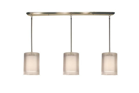 Z-Lite Nikko Collection Brushed Nickel/White Finish 9 Lights Island/Billiard - ZLiteStore