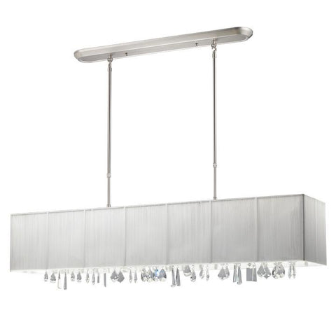 Z-Lite Casia Collection Brushed Nickel/White Finish Five Light Isalnd/Billiard - ZLiteStore