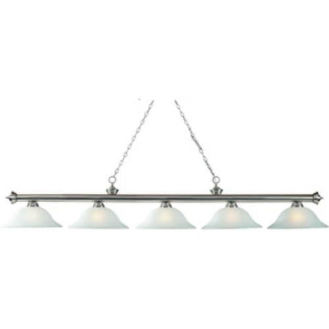 Z-Lite Riviera Brushed Pewter Collection Pewter Finish Five Light Billiard - ZLiteStore