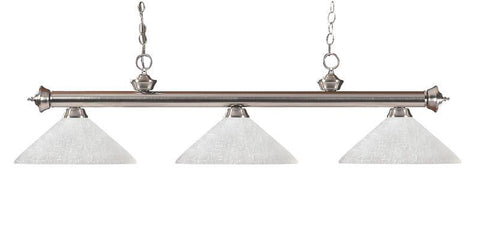 Z-Lite 100703bn-awl14 Riviera Brushed Nickel Collection 3 Light Billiard - ZLiteStore