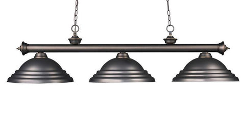Z-Lite 200-3ob-sob Riviera Olde Bronze Collection 3 Light Billiard - ZLiteStore
