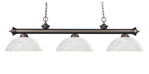 Z-Lite 200-3ob-dwl14 Riviera Olde Bronze Collection 3 Light Billiard - ZLiteStore